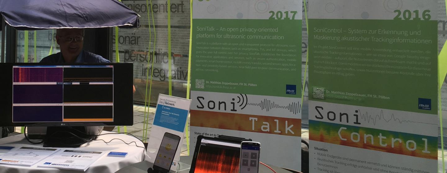 SoniTalk stand at the HdD kick-off event