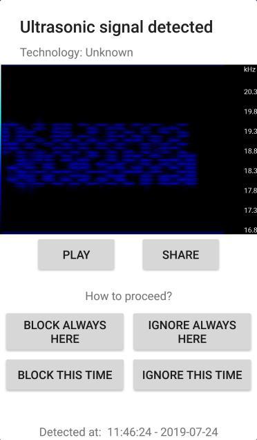 SoniControl diagnostics dialog prototype