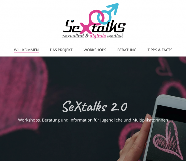Screenshot SeXtalks Webseite